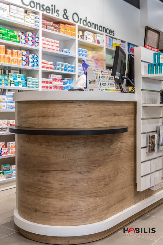 comptoir pharmacie design